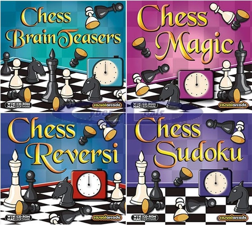 Chess Puzzles Software Games MAC OS X Macintosh PC Windows Sealed New