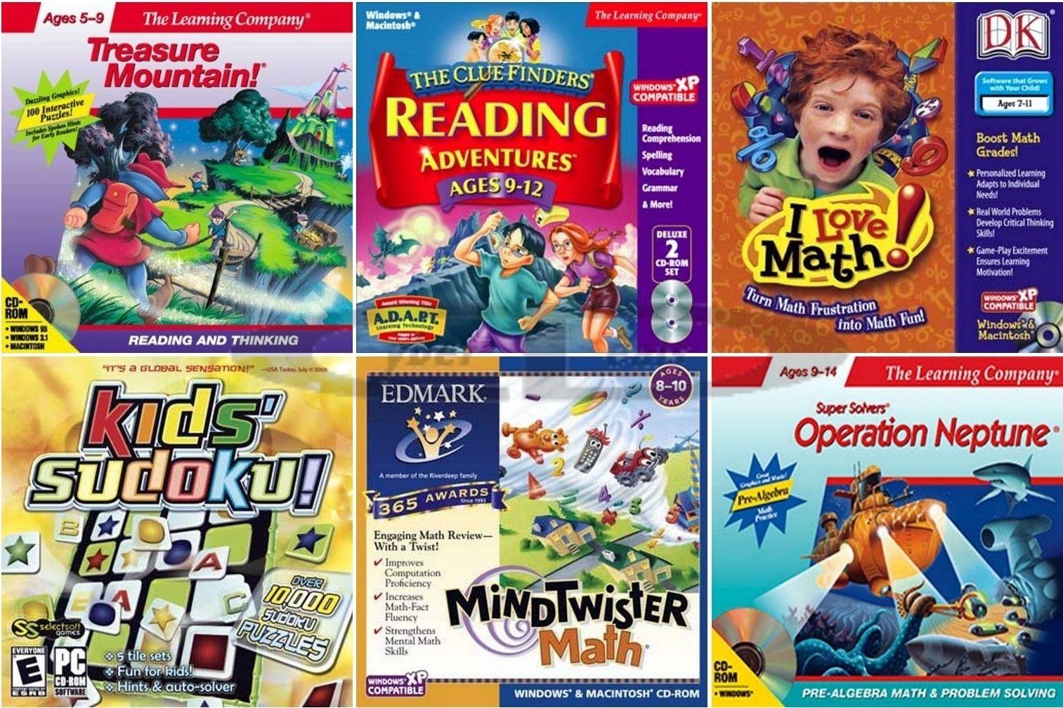 Kids Learning Games Math Reading Edutainment PC Windows XP Vista 7 ...