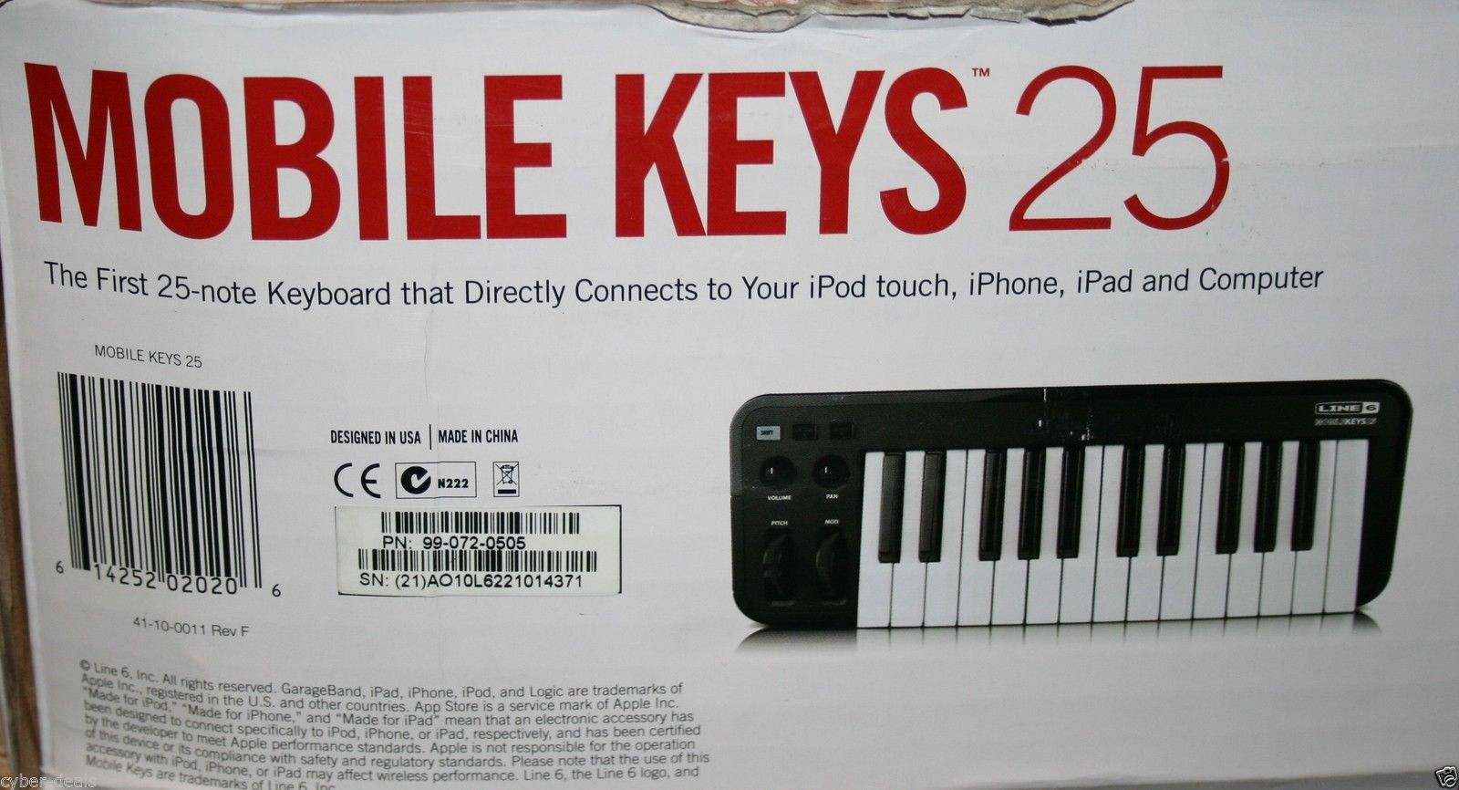 Line 6 Mobile Keys 25 USB Keyboard MIDI Controller